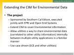 extending the cim for environmental data1