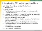 extending the cim for environmental data5