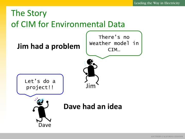 The story of cim for environmental data