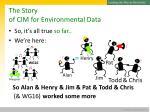 the story of cim for environmental data13
