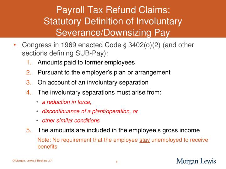Payroll Tax Refund Claims: