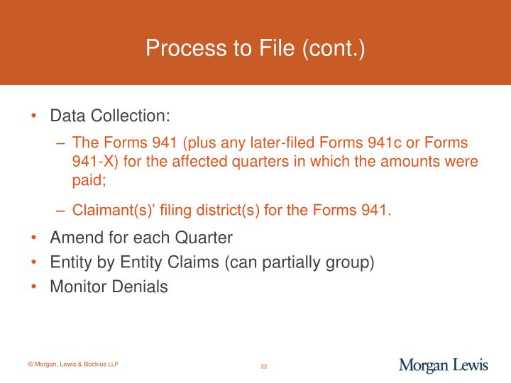 Process to File (cont.)