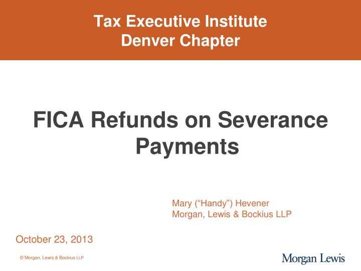 Tax executive institute denver chapter