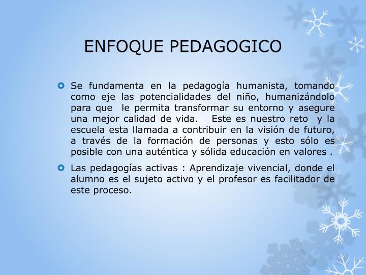 ENFOQUE PEDAGOGICO