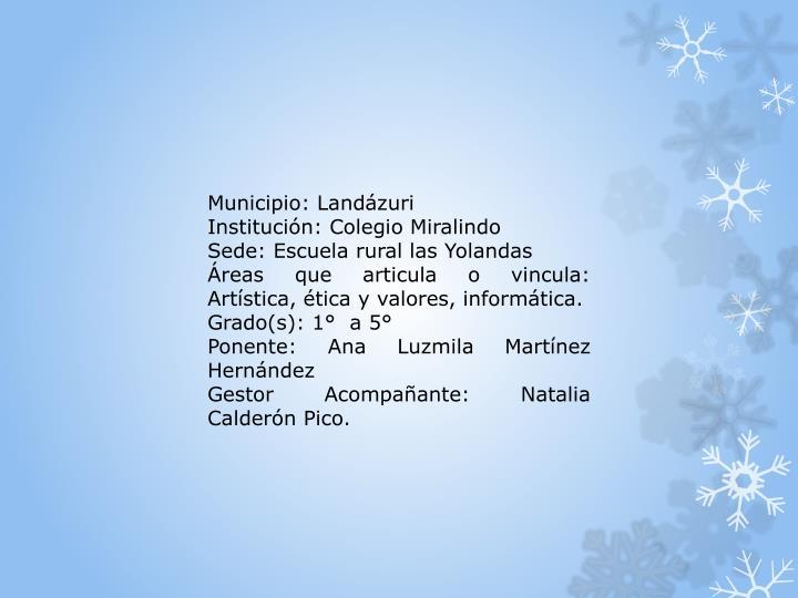 Municipio: Landázuri
