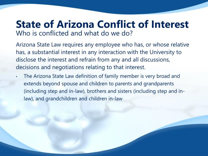 State of Arizona Conflict of Interest