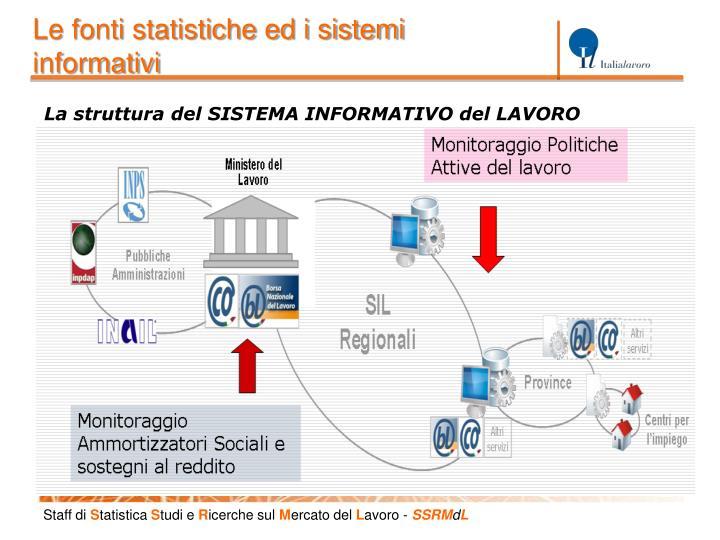 Le fonti statistiche ed i sistemi