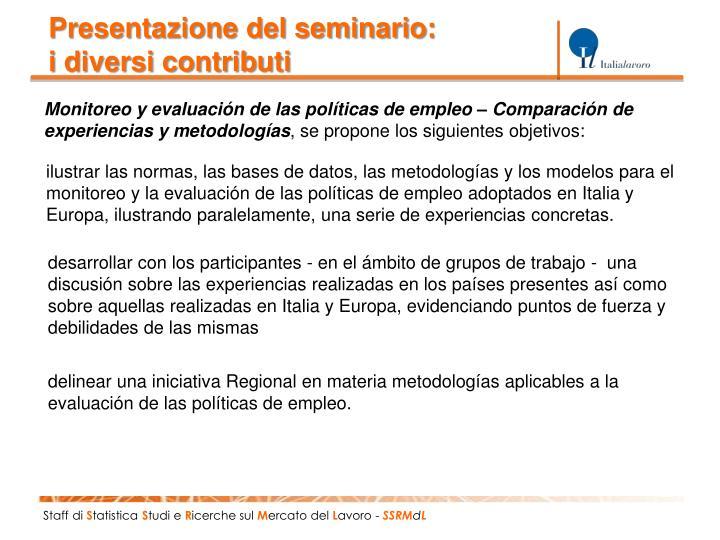 Presentazione del seminario: