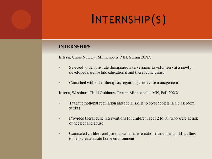 Internship(s)