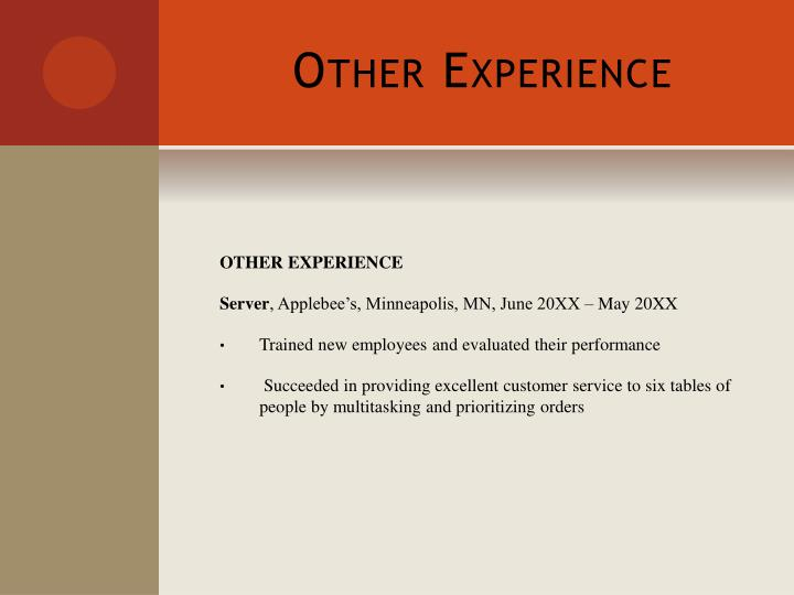 Other Experience
