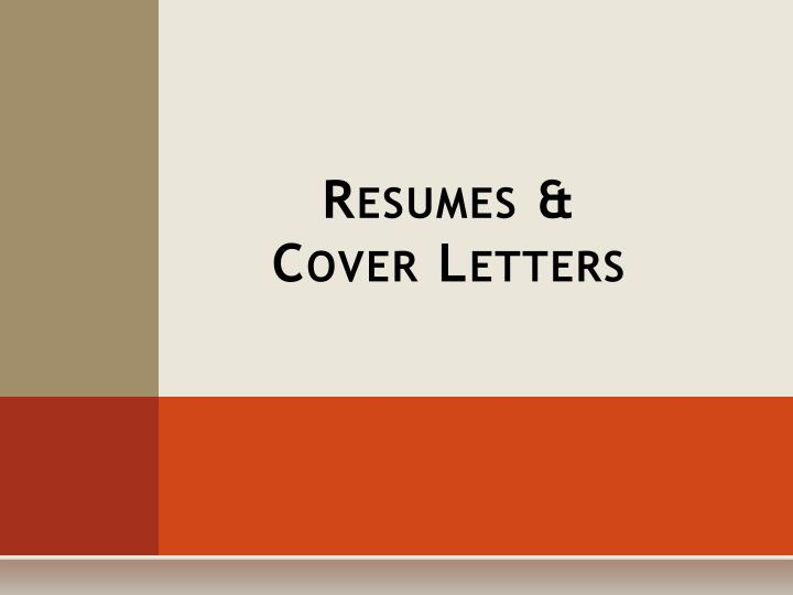 Resumes cover letters