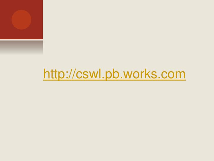 http://cswl.pb.works.com
