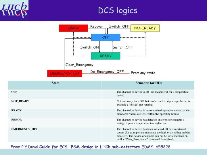 DCS logics