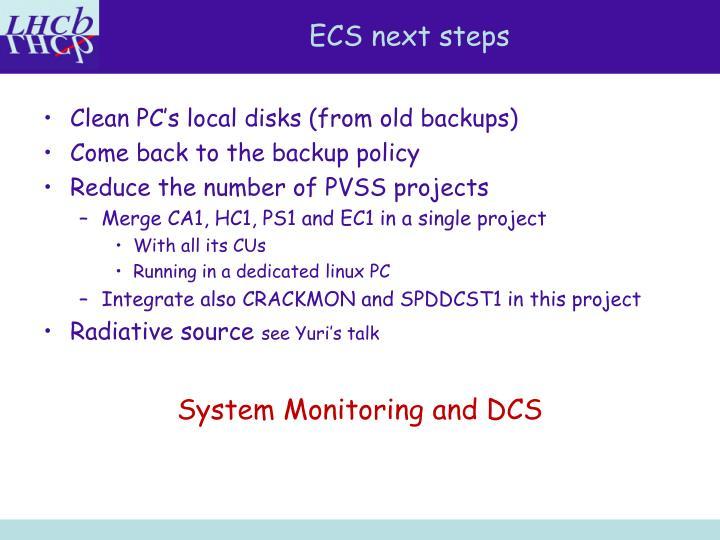 ECS next steps