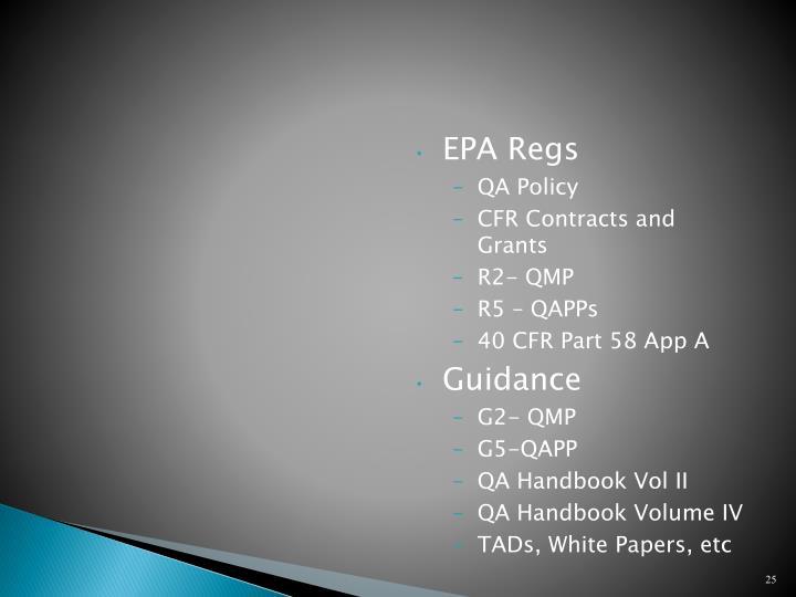 EPA Regs