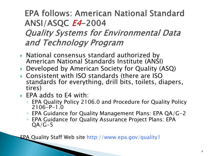 EPA follows: American