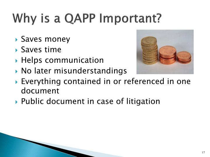 Why is a QAPP Important?