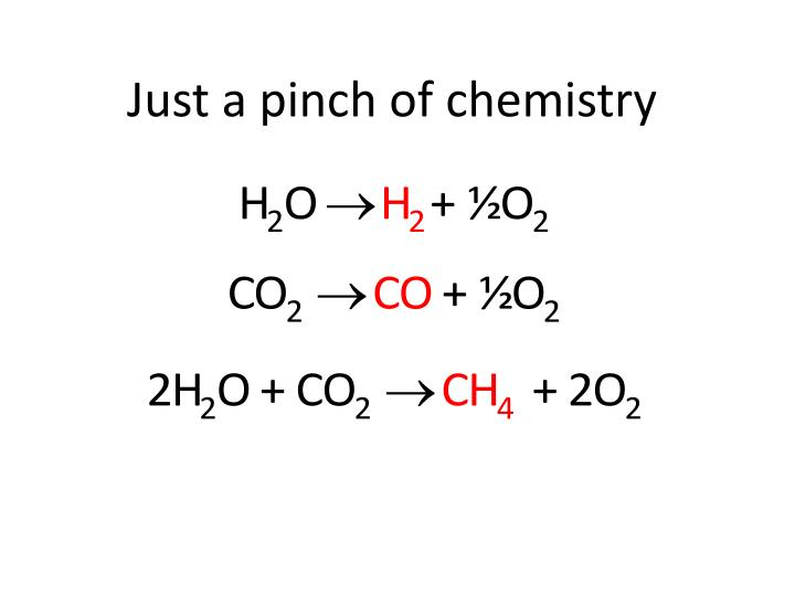 Just a pinch of chemistry