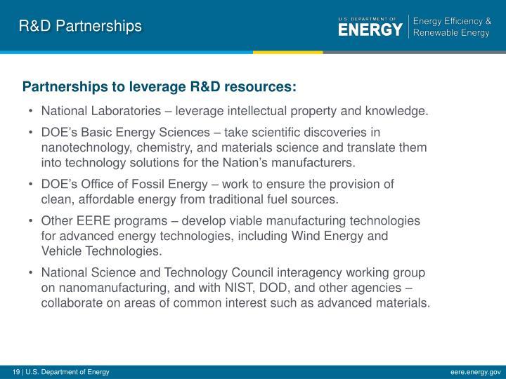 R&D Partnerships