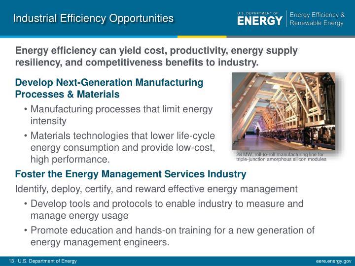 Industrial Efficiency Opportunities
