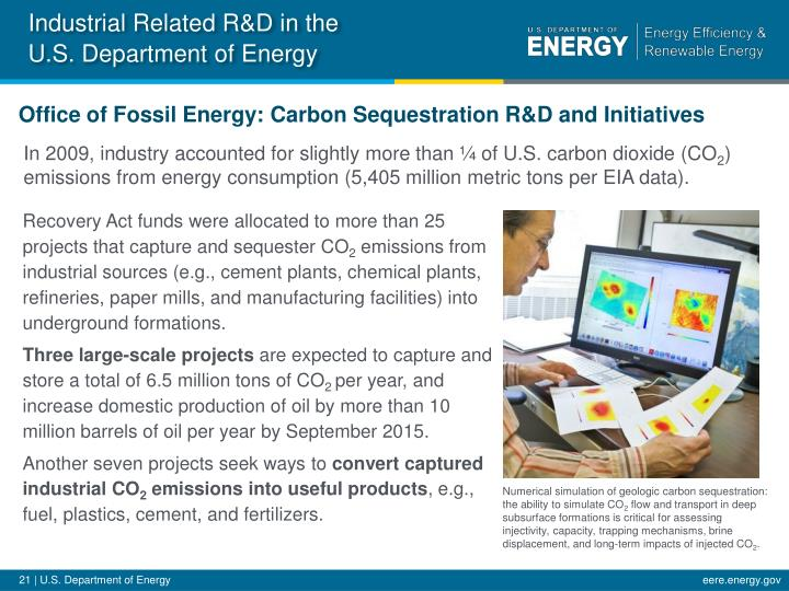 Industrial Related R&D in the U.S. Department of
