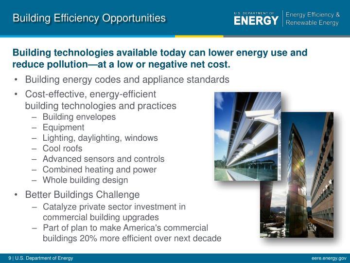 Building Efficiency Opportunities
