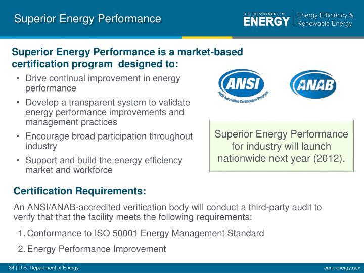 Superior Energy Performance