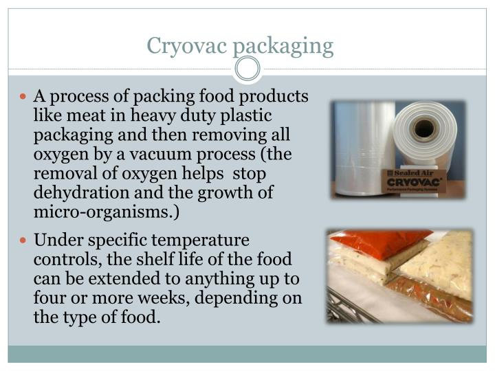 Cryovac packaging