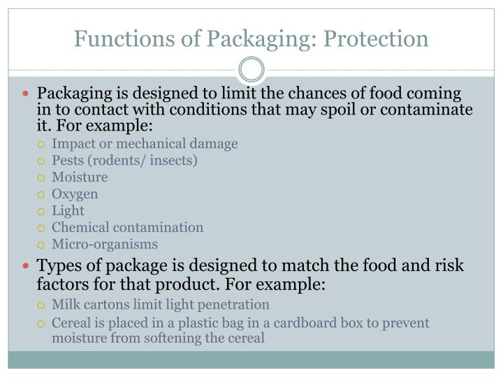 Functions of Packaging: Protection