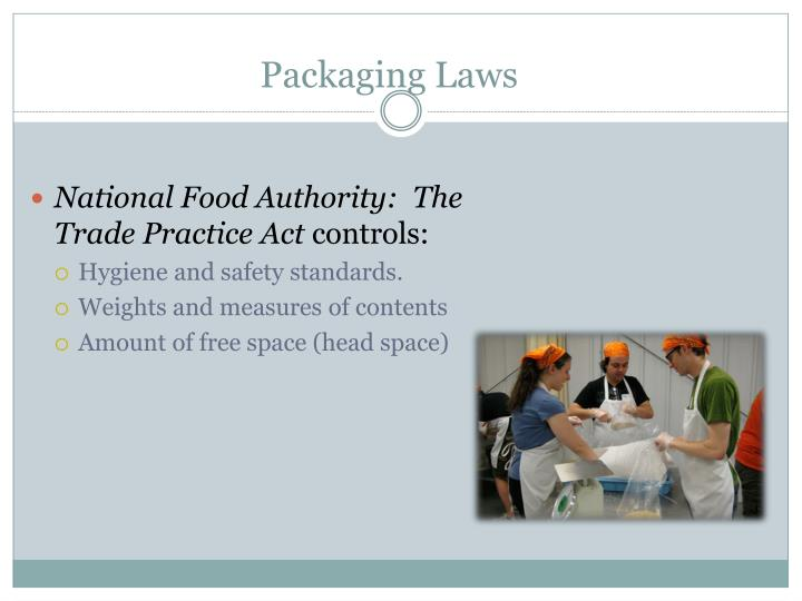 Packaging Laws