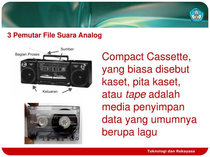 3 Pemutar File Suara Analog