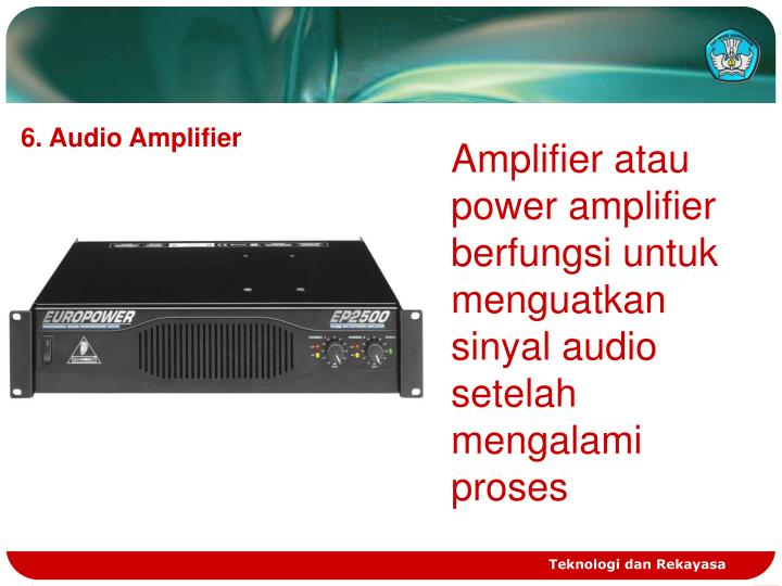 6. Audio Amplifier