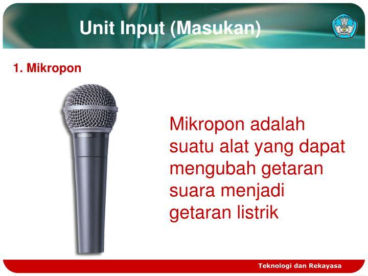 Unit Input (