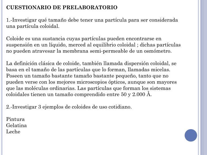 CUESTIONARIO DE PRELABORATORIO