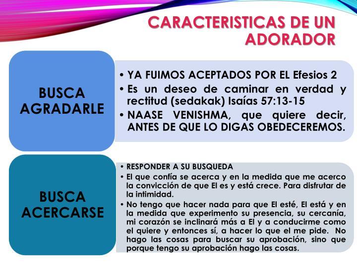 CARACTERISTICAS DE UN ADORADOR