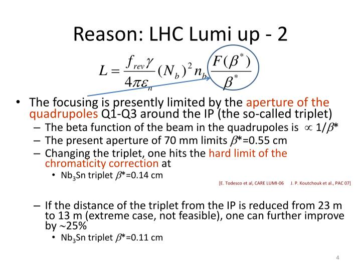 Reason: LHC