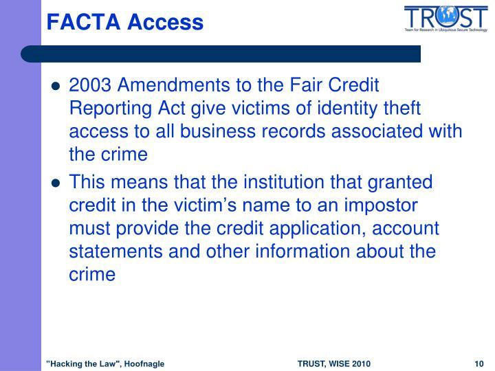FACTA Access