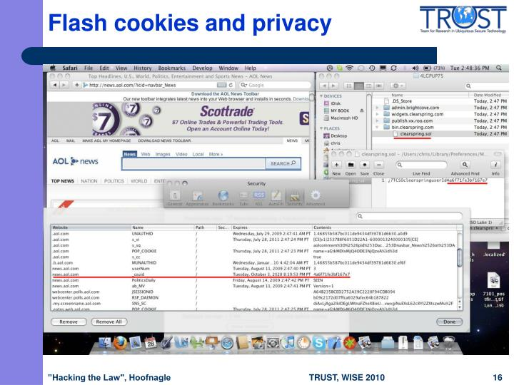 Flash cookies and privacy
