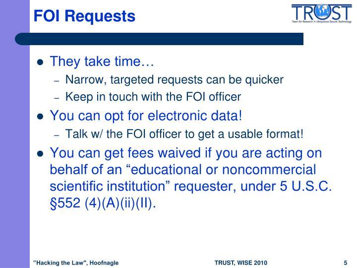 FOI Requests