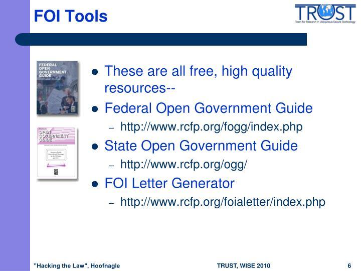 FOI Tools