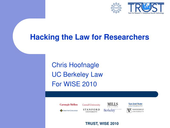 Hacking the Law for Researchers