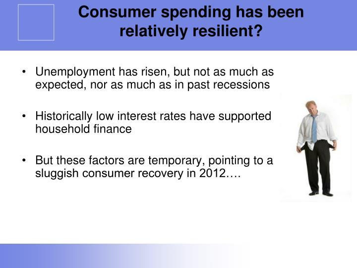 Consumer spending has