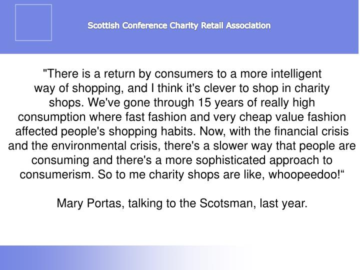 Scottish Conference Charity Retail Association