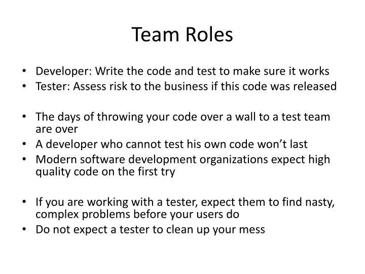 Team Roles