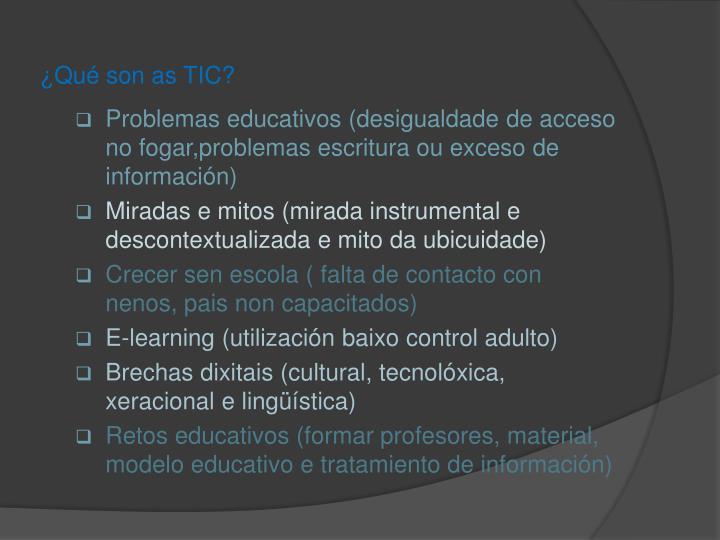 ¿Qué son as TIC?