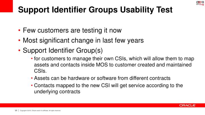 Support Identifier Groups Usability Test