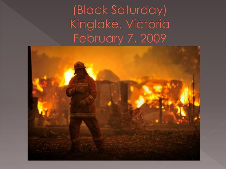 (Black Saturday)