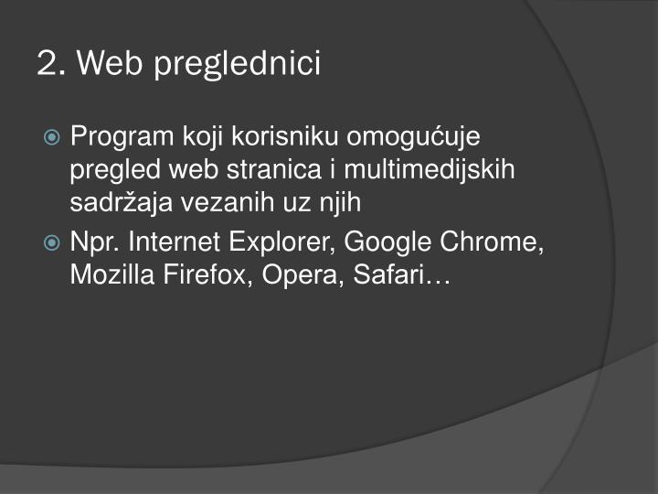 2. Web preglednici