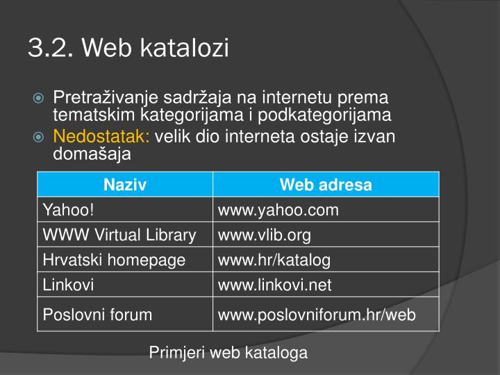 3.2. Web katalozi