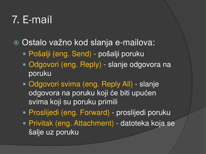 7. E-mail